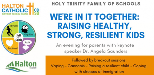 We're In It Together: Raising Healthy, Strong, Resilient Kids @ Holy Trinity Catholic Secondary School