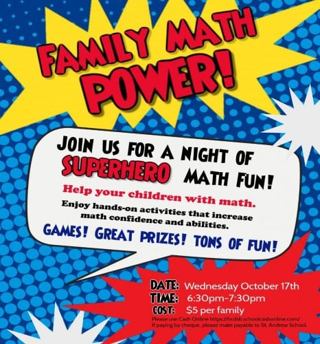Family Math Power! @ St. Andrew School