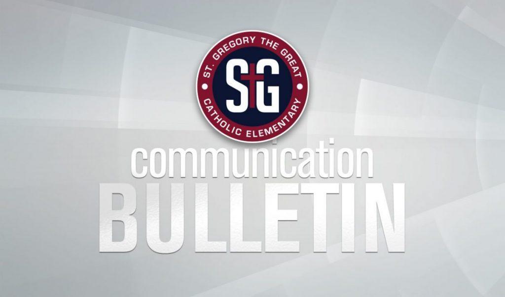 Communication Bulletin – November 11, 2019